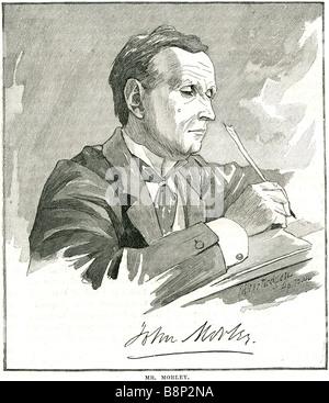 John Morley Viscount Blackburn 1838 1923  British Liberal statesman writer newspaper editor - Stock Photo