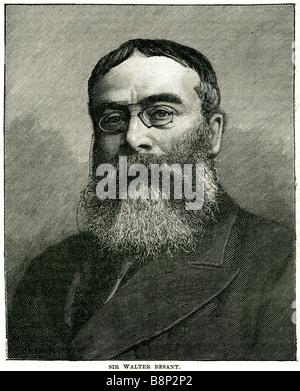 Sir walter Besant 1836 1901 London novelist historian - Stock Photo