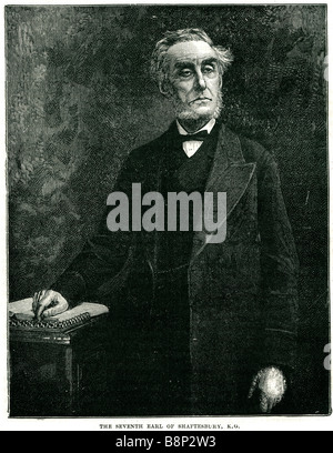 Earl of Shaftesbury 1801 1885 Anthony Ashley Cooper English politician philanthropist - Stock Photo