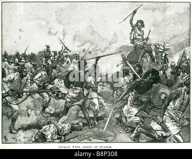 affray arabs et suakim 1888 Mahdist Marshal Francis Wallace Grenfell - Stock Photo