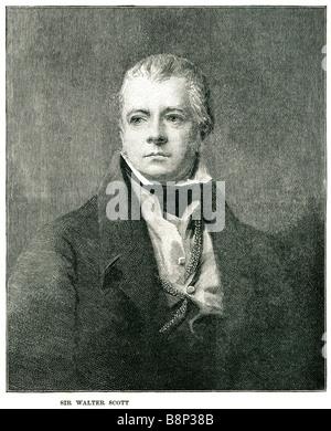 sir Walter Scott 1st Baronet 15 1832 prolific Scottish historical novelist poet international career - Stock Photo