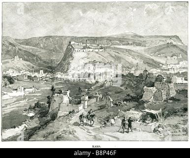 kars Turkey capital 1854 Crimean War protracted siege British General William Fenwick Williams - Stock Photo