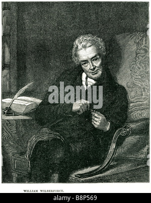 william wilberforce 24 August 1759 29 July 1833 British politician philanthropist slave trade - Stock Photo