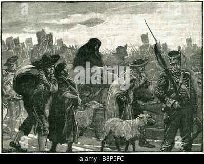 wellington retreat from coimbra 1810 Field Marshal Arthur Wellesley military political Anglo-Irish - Stock Photo