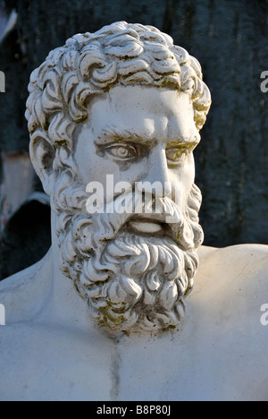 Close up of greek or roman style figure - Stock Photo