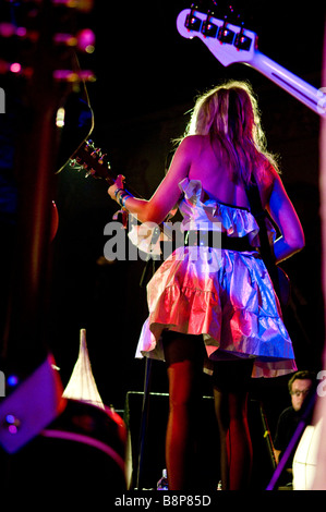Singer/songwriter Tallulah Rendall performs on stage in London - Stock Photo