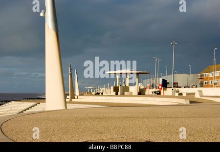 The seafront at Thornton Cleveleys Lancashire - Stock Photo