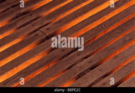 detail wooden planks - Stock Photo