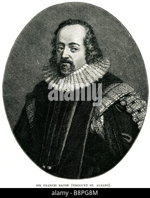 Francis Bacon, 1st Viscount St Alban KC (22 January 1561 – 9 April 1626), son of Nicholas Bacon by his second wife - Stock Photo