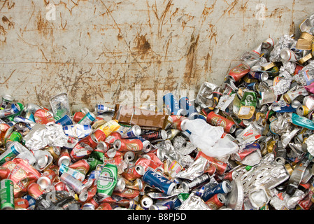 Pile of aluminum cans - Stock Photo