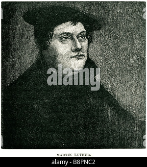 Martin Luther 1483 1546 German monk theologian university professor priest father of Protestantism church reformer - Stock Photo