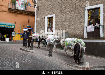Old Ways and New in Guanajuato, Mexico - Stock Photo