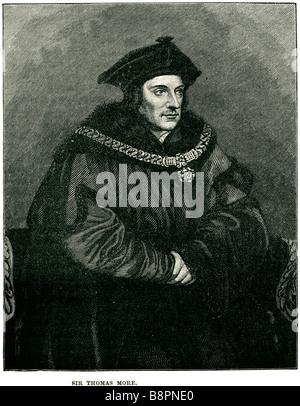Sir Thomas More 1478 1535 English lawyer author statesman Renaissance humanist scholar Lord Chancellor - Stock Photo