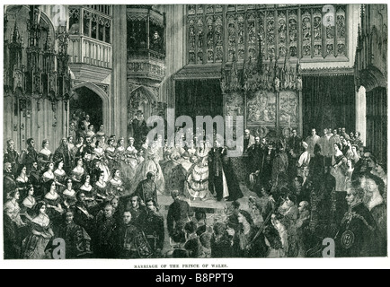 marriage the prince of wales Edward VII 1863 King United Kingdom British Dominions Emperor of India - Stock Photo