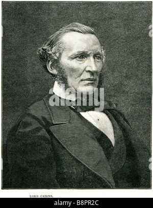 lord Hugh McCalmont Cairns 1810 1885 British statesman Lord Chancellor Great Britain Conservative - Stock Photo