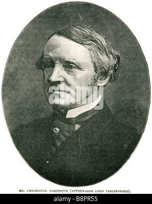 mr Chichester Samuel Fortescue 1823 1898 Parkinson-Fortescue lord carlingford Baron British statesman Liberal politician - Stock Photo