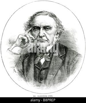 Mr William Ewart Gladstone 1809 1898 Prime Minister British Liberal Party statesman - Stock Photo