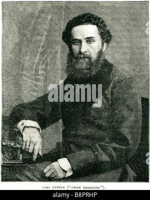 Edward George Earle Lytton Bulwer 1803 1873 English novelist poet playwright politician - Stock Photo