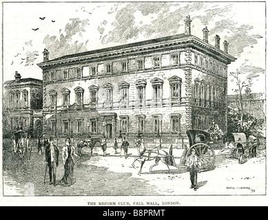 reform club pall mall london 1872 gentlemen's club men only Edward Ellice - Stock Photo