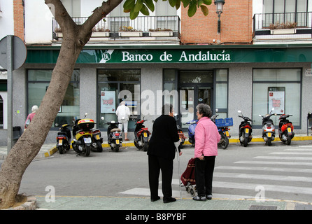 Bank of Andalucia in Nerja southern Spain - Stock Photo