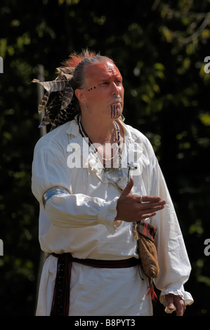 Chief Blackfish of the Shawnee tribe at the Siege of Fort Boonesborough - Stock Photo
