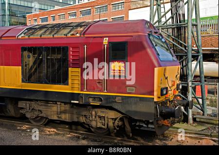 EWS (English, Welsh and Scottish) Class 67 diesel locomotive at London King's Cross Railway Station - Stock Photo