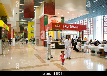 shopping mall interior, food hall, dubai, uae - Stock Photo