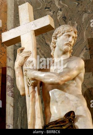 Michelangelo - Christ from church Santa Maria sopra Minerva in Rome - Stock Photo