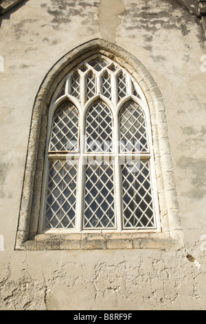Window at St. Peter's Parish Church, West Coast of Barbados, 'West Indies' - Stock Photo