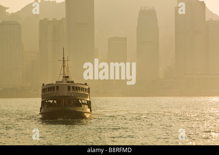 Star Ferry Victoria Bay Kowloon Hong Kong - Stock Photo