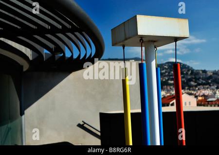 Nice, France, Outside Views of 'Musée d'Art Moderne et d'Art Contemporain', MAMAC, 'Contemporary Arts Museum', 'Modern - Stock Photo