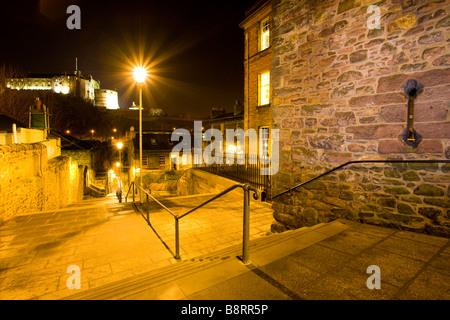 Scotland Edinburgh Edinburgh City The Flodden Wall - Stock Photo