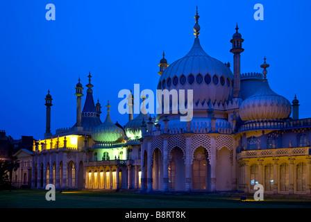 Royal Pavilion at twilight, Brighton, East Sussex, England - Stock Photo