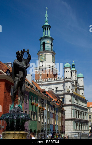 Renaissance Town Hall in the Old Square, Poznan, Lublin Voivodeship, Poland - Stock Photo