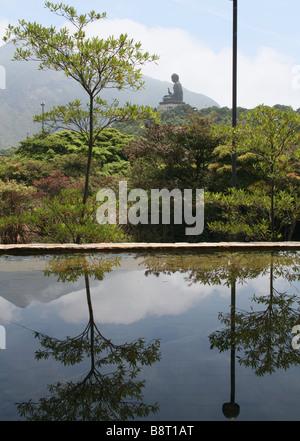 Giant Buddha Lantau Island Hong Kong  April 2008 - Stock Photo