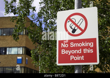 No smoking sign on a public building. - Stock Photo