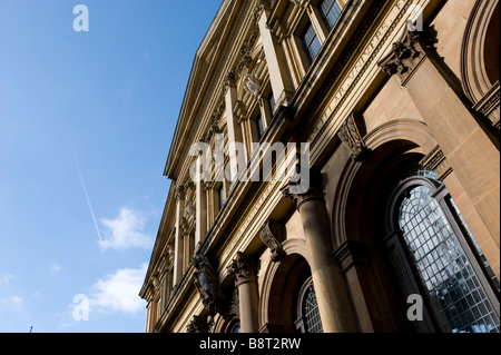 The sun glints on the Sheldonian Theatre in Oxford a Wren building where University holds meetings,degree ceremonies - Stock Photo