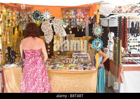 'Hippy Market', Punta Arabi, Es Cana, Ibiza - Stock Photo