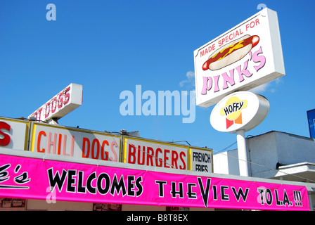 Pink S Hot Dogs North La Brea Avenue Los Angeles Ca