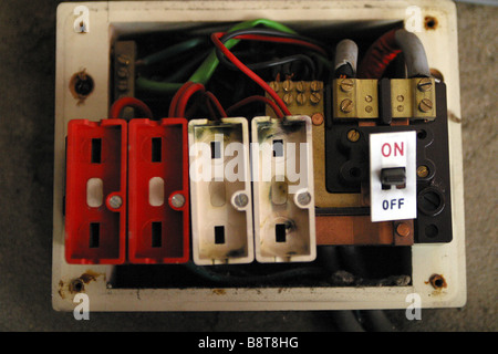 old style consumer unit electrical wire fuse box b8t8hg old style consumer unit electrical wire fuse box stock photo old fuse box wiring diagrams at readyjetset.co