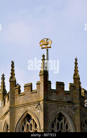 The lantern tower, St. Mary and All Saints Church, Fotheringhay, Northamptonshire, England, UK - Stock Photo