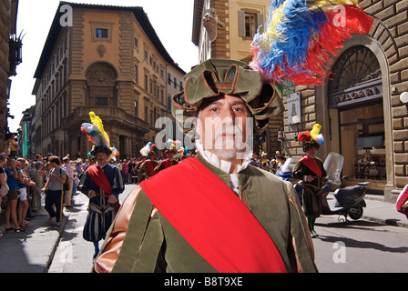 Parade before the Calcio Storico - Stock Photo