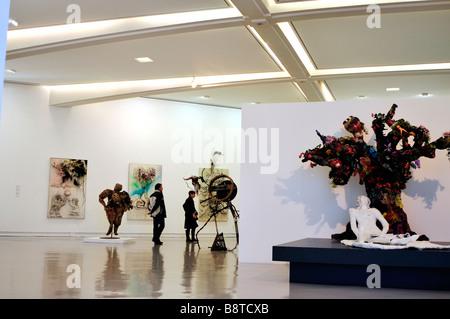 Nice, France, Inside Views of 'Musée d'Art Moderne et d'Art Contemporain', MAMAC, 'Contemporary Arts Museum', People - Stock Photo