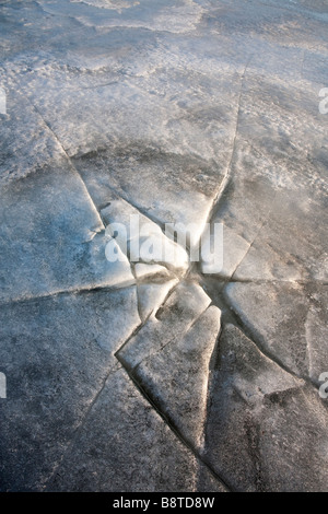 Cracked sea ice - Stock Photo