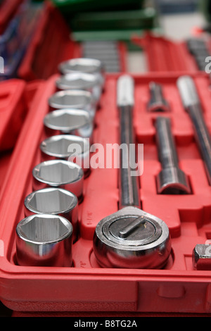 Socket tool set in case - Stock Photo