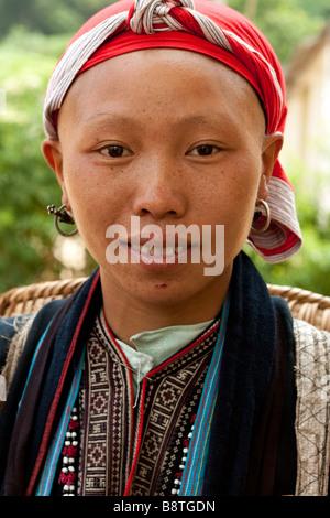 Dao mountain lady of northern Vietnam - Stock Photo