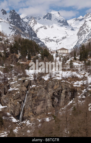 Cascade du Ray, Gordolasque, Mercantour Alps, France - Stock Photo