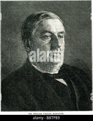 Sir William George Granville Venables Vernon Harcourt 1827 1904 British lawyer journalist Liberal statesman - Stock Photo