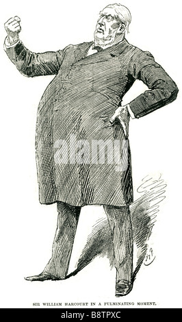 sir william harcourt in a fulminating moment Sir William George Granville Venables Vernon Harcourt (14 October 1827 - Stock Photo
