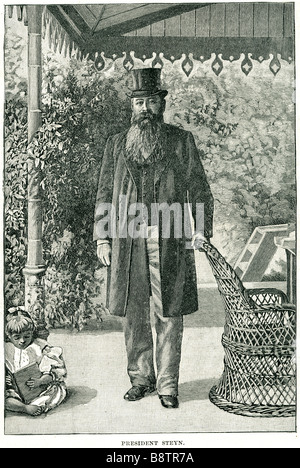 President Steyn Martinus (or Marthinus) Theunis Steyn (October 2, 1857 – 28 November 1916) was a South African lawyer, - Stock Photo